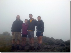Attempt to get group photo through fog
