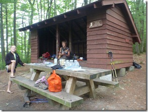 Helvey's Mill Shelter (yes that hiker is playing a guitar)