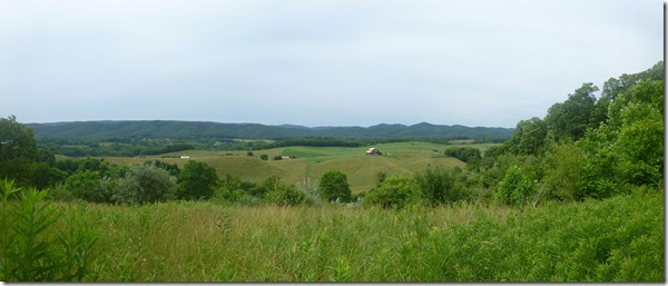 Panoramic view on way down to Atkns