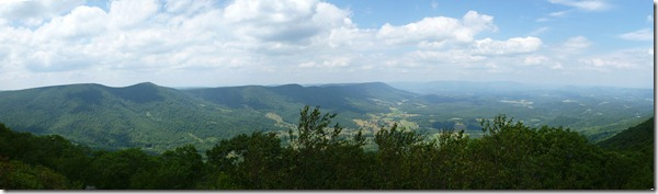 Panoramic view on top of Surgar Run Mtn
